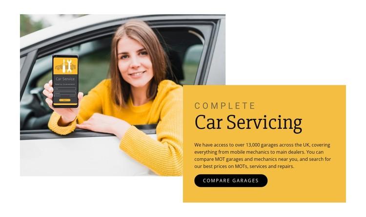 Car servicing CSS Template
