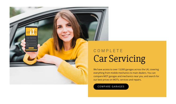 Car servicing Homepage Design