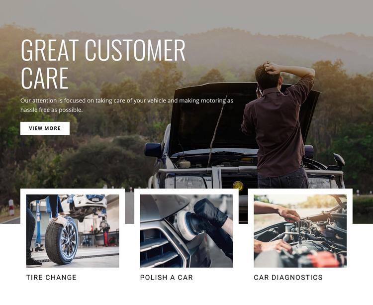 Great customer care Homepage Design