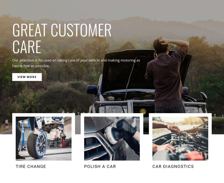 Great customer care One Page Template