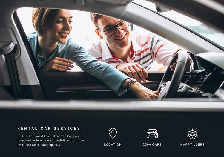 Rental Car Services Website Builder Software