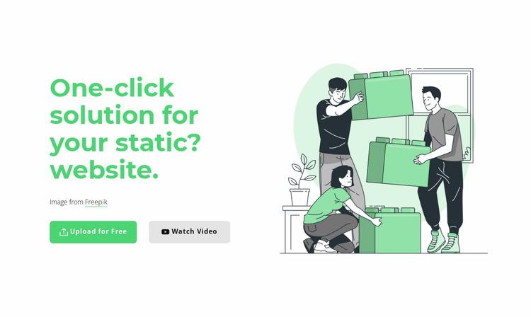 One-click solution Website Mockup
