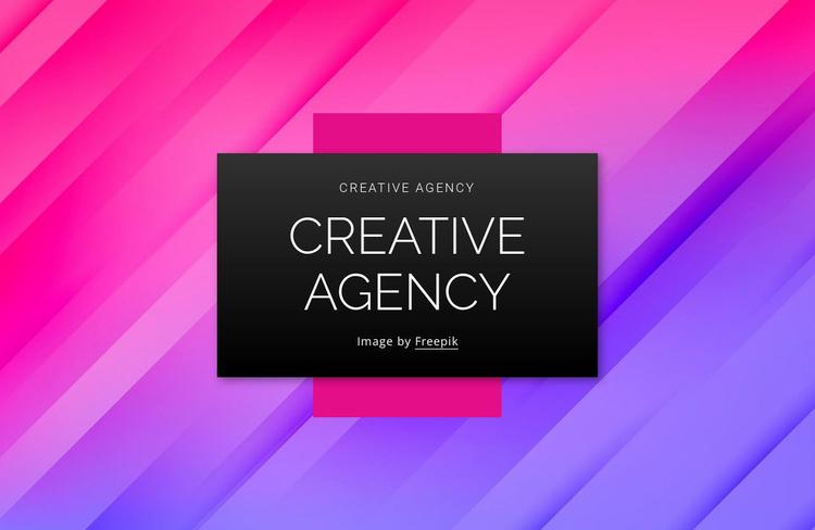 Branding design content agency Website Template