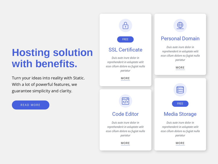 Hosting solution with benefits WordPress Theme