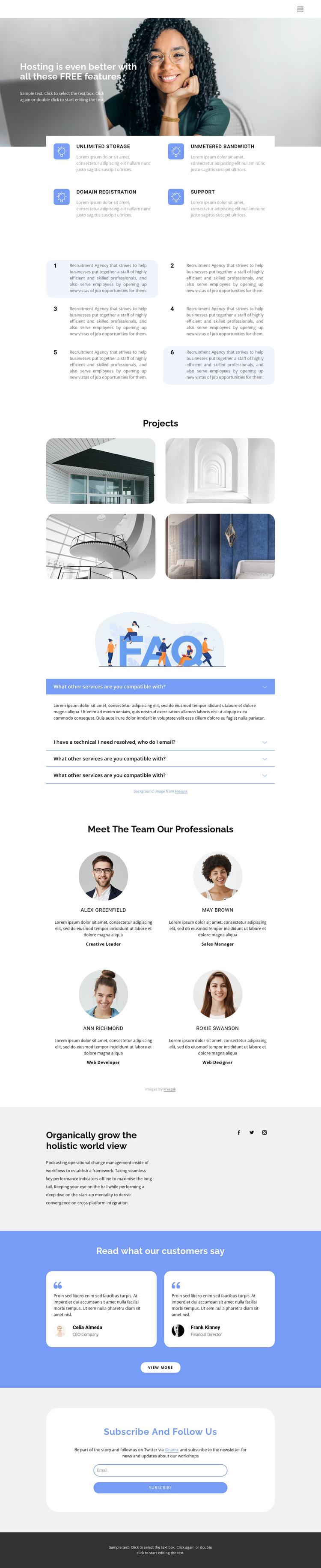 Innovative business development HTML Template