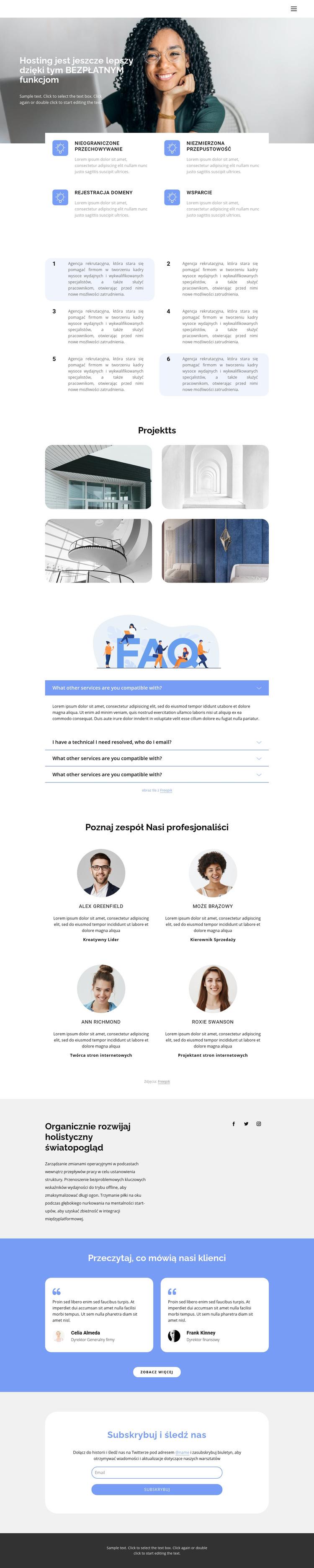 Innowacyjny rozwój biznesu Szablon witryny sieci Web