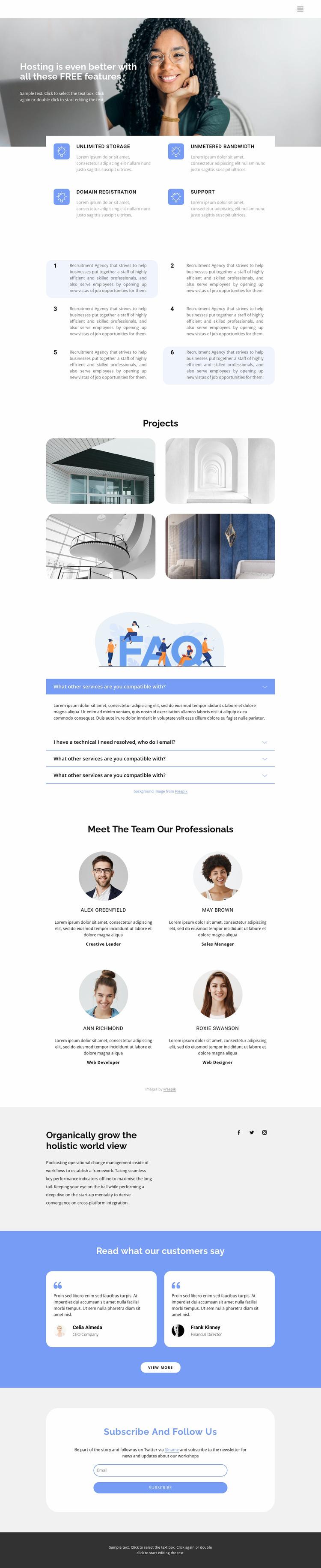 Innovative business development Website Mockup