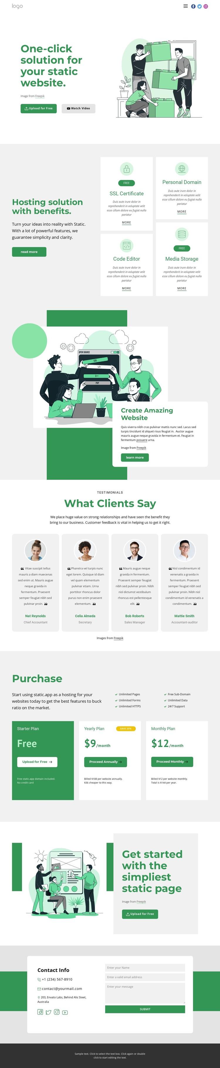 Development company HTML Template