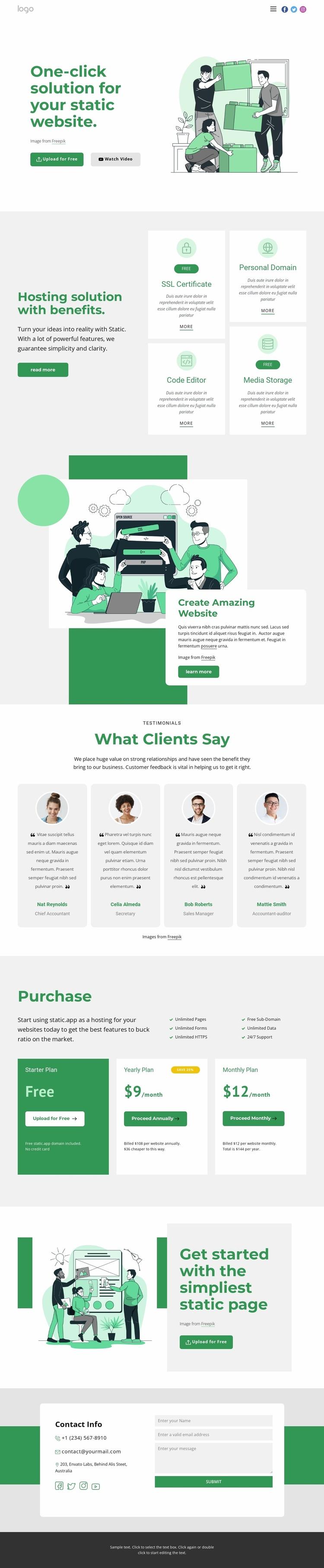 Development company Website Template