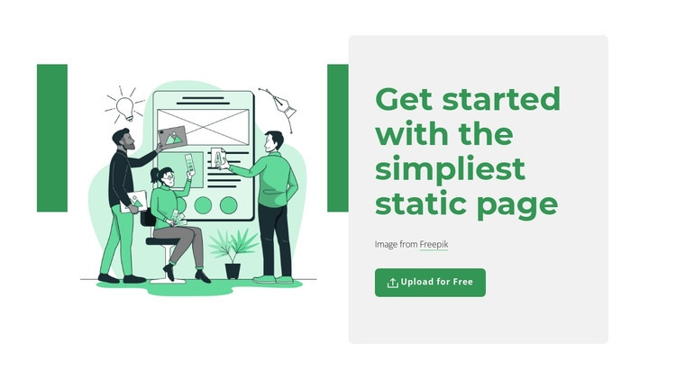 Create static page Html Code Example