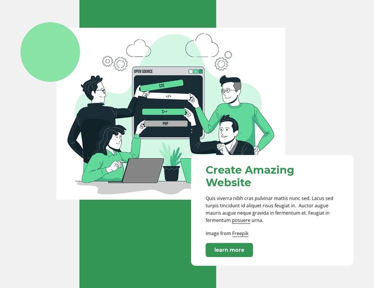 Create website HTML Template