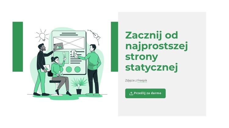 Utwórz stronę statyczną Szablon witryny sieci Web