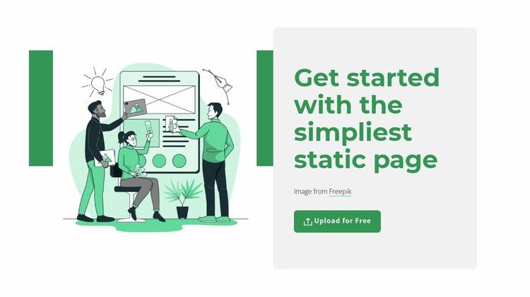 Create static page Web Page Designer