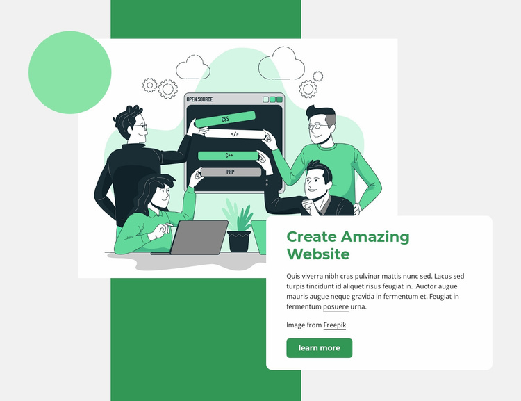 Create website Website Template