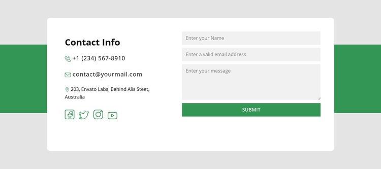 Contact information block Wysiwyg Editor Html