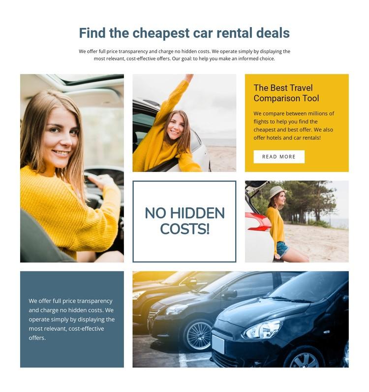 Cheap car rental worldwide CSS Template