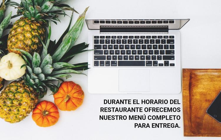 Entrega de menú Plantilla de sitio web
