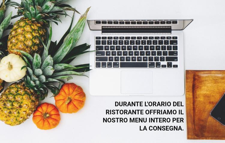 Consegna del menu Modello di sito Web