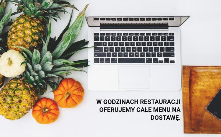 Dostawa menu Szablon witryny sieci Web