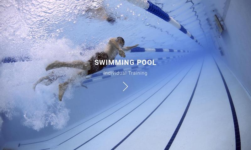 Swimming pool Web Page Design