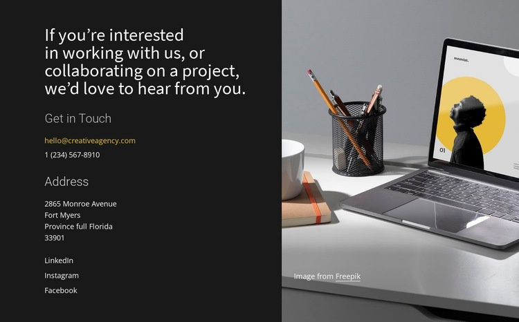 Explore our consulting services Web Page Designer