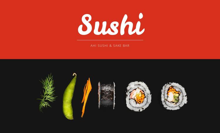 Sushi Website Template