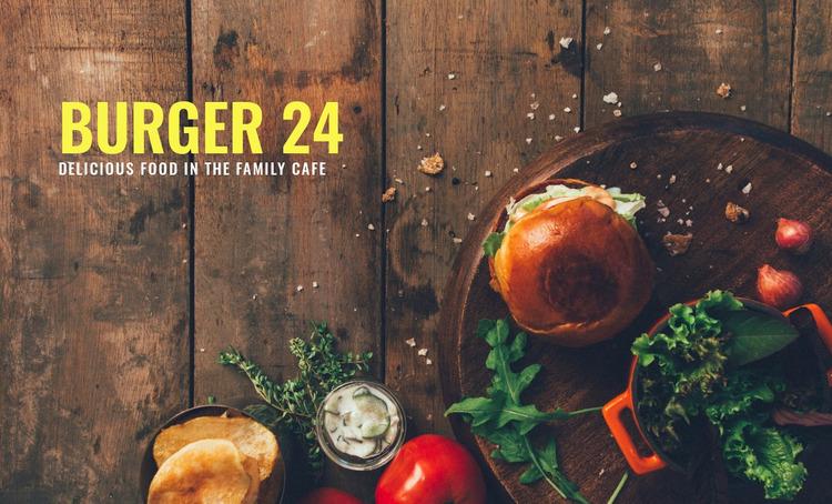 Burger food WordPress Website Builder