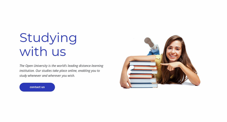 Studying with us Landing Page