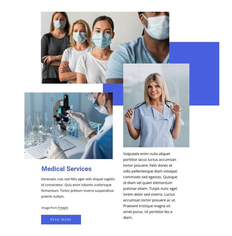 Medical service company Html Code Example