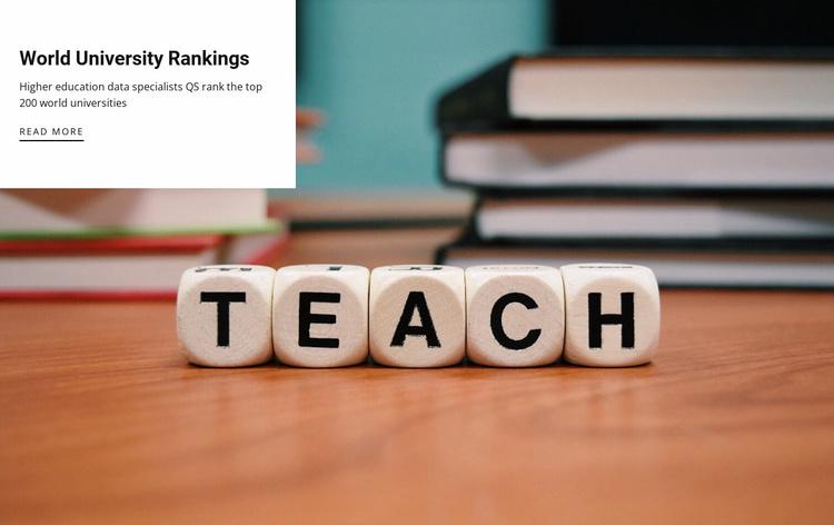 Choose a teacher for you Website Template