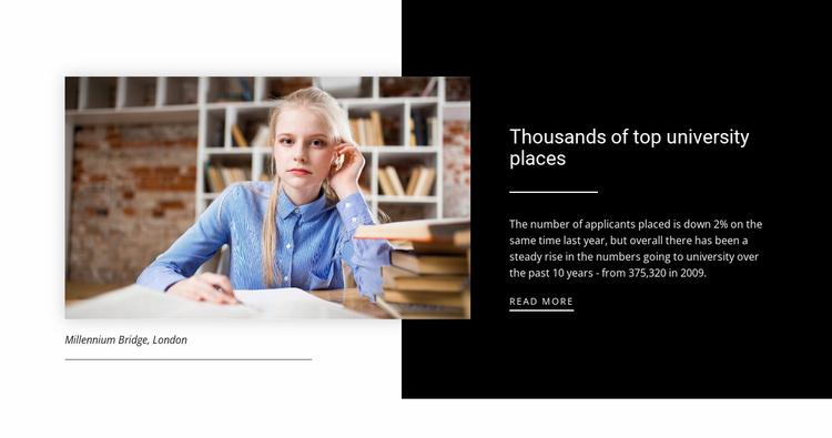 Informaton about top university Website Template