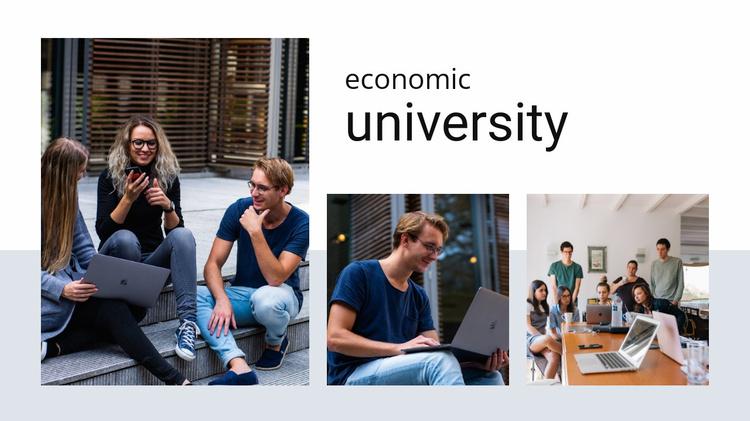 Economic university Website Template