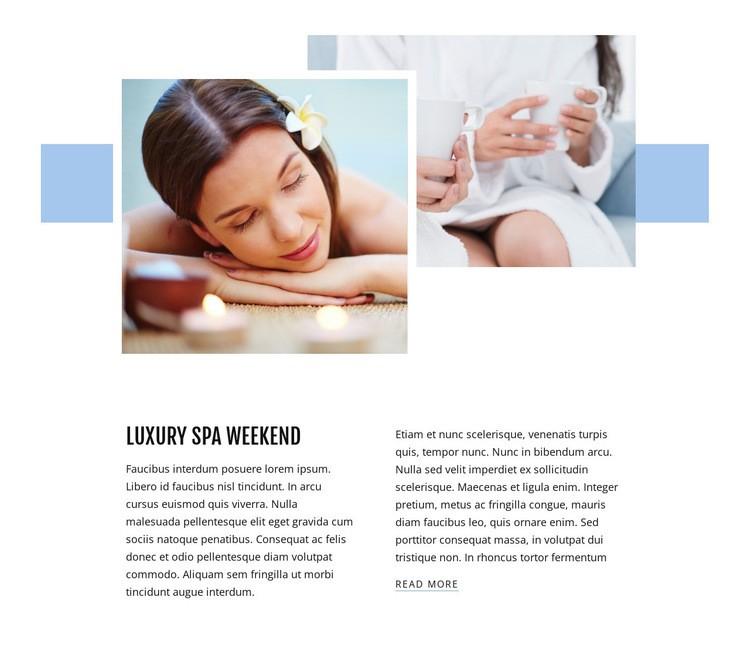 Luxury spa weekend Web Page Designer