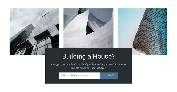Building house HTML5 Template