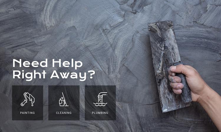 Home wall repair services Web Design