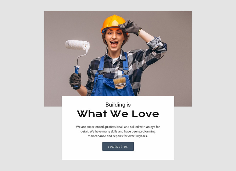 Building construction industry Website Template