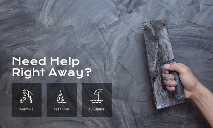 Home wall repair services WordPress Website Builder