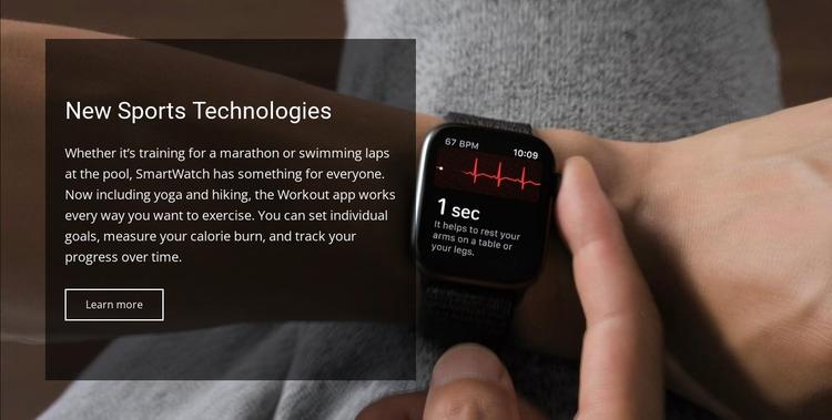 New sports technologies Html Website Builder