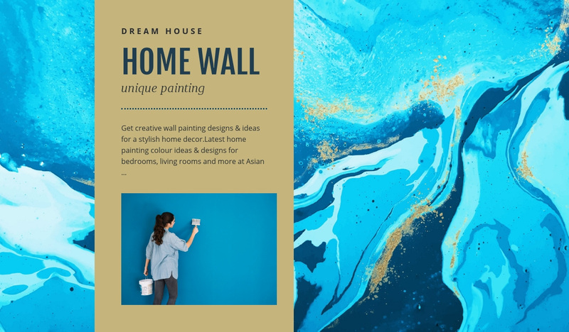 Home wall Web Page Design