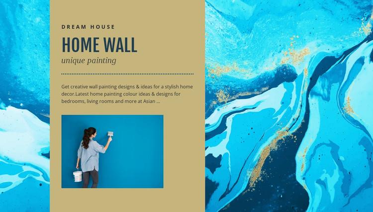 Home wall Website Template