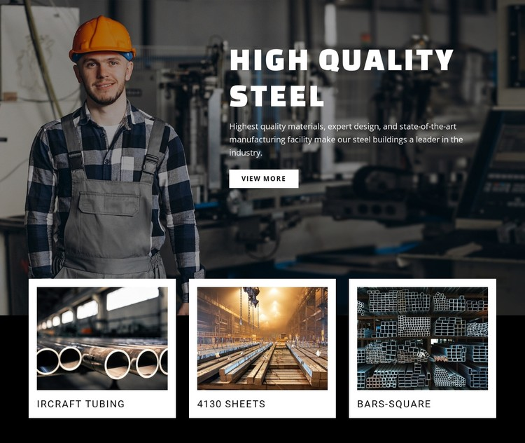 Hight quality steel CSS Template