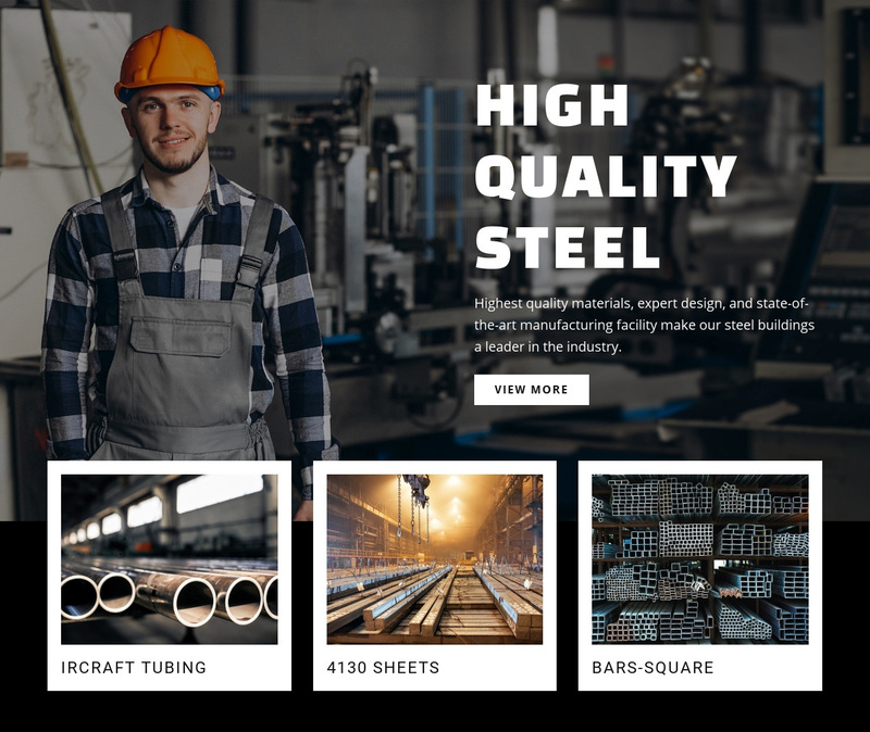 Hight quality steel Web Page Design