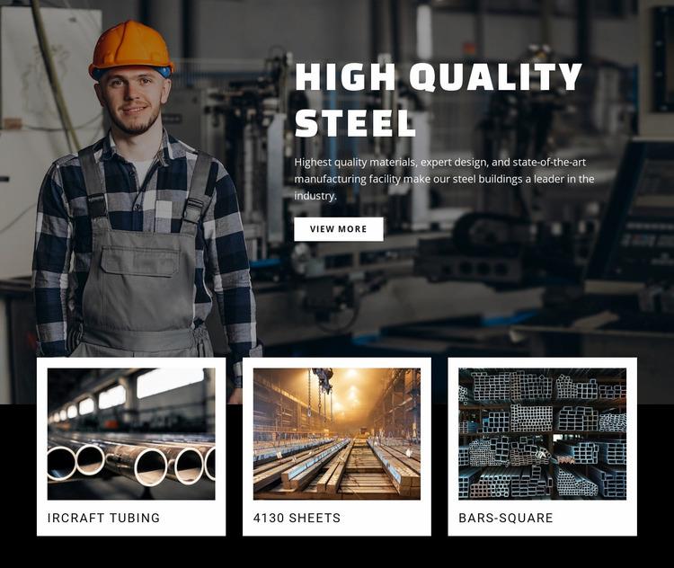 Hight quality steel Website Mockup