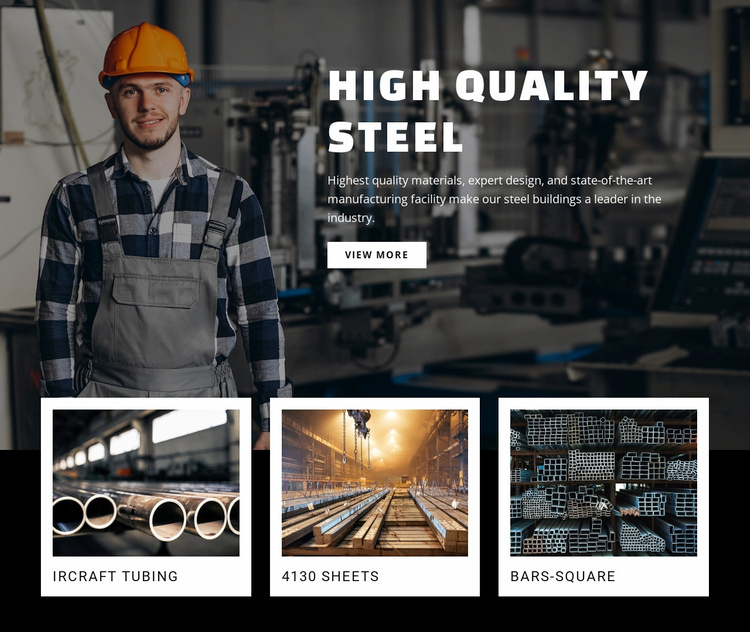 Hight quality steel Website Template