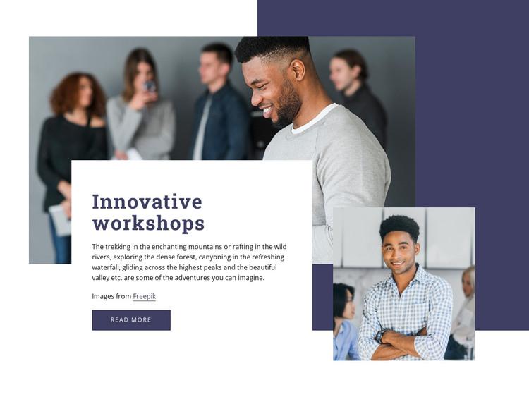 Innovative workshops HTML Template