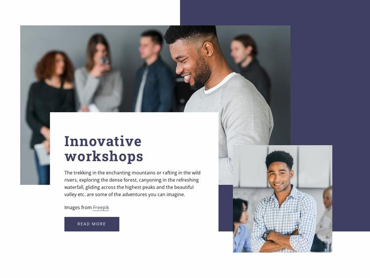 Innovative workshops Website Mockup