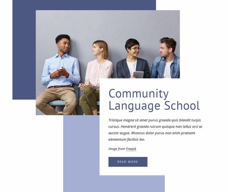 Community language school Website Mockup