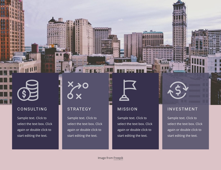Strategy and investment Website Mockup