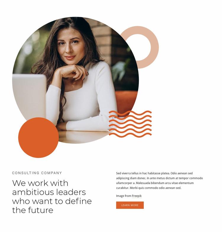 We work with leaders Website Mockup