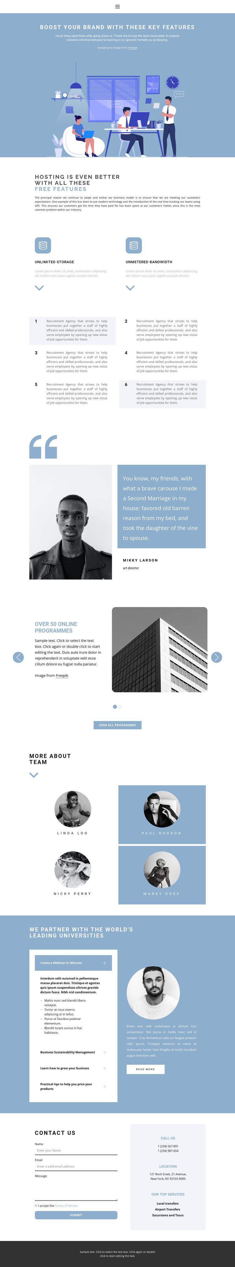 Starting a business journey Website Template